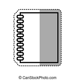 note book library isolated icon vector illustration design