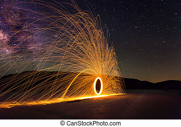 Glowing Sparks and the Milky Way
