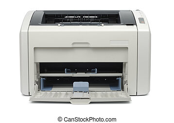 Empty Office Printer - New empty printer isolated on white...