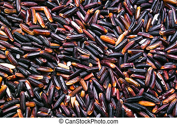 black rice background, texture