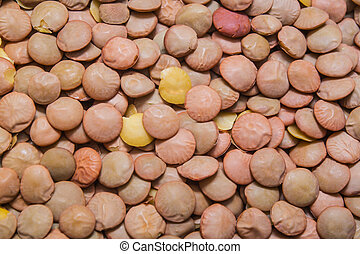 green lentil background, texture