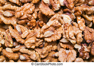 Walnuts Kernel Background or Texture