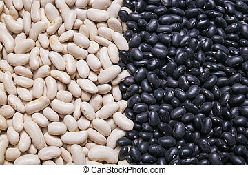 white and black beans background, texture