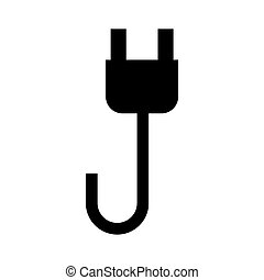 wire cable energy plug icon