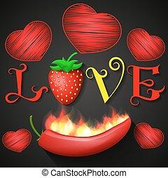love design over black background vector illustration