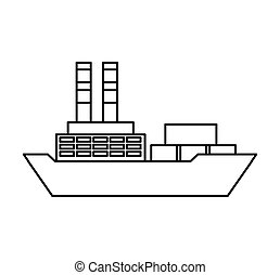 cargo ship isolated icon vector illustration design