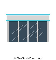 store building glass icon