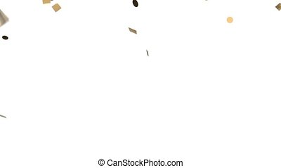 Gold confetti on white background HD