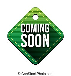 Coming soon hangtag vector