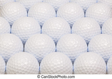 Pattern from white golf balls - White golf balls in the open...