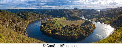 Famous view on Vltava river, Czech Republic - Famous view on...