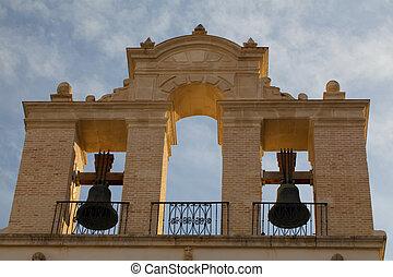cattedrale, tramonto, Spagna, fascette, Siviglia