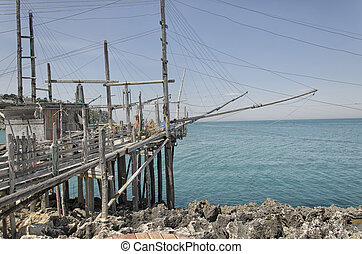 Old trabucco - A old trabucco, a typical construction for...