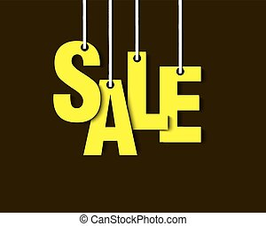 Letters sale hanging on a ropes