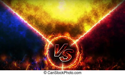 Versus fight backgrounds, VS on fire, Loop, - Abstract...