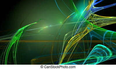 Colorful green pattern abstract motion background - Colorful...