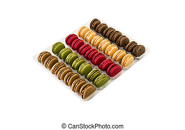 Macaron sweet confectionery - Five colors macaron sweet...
