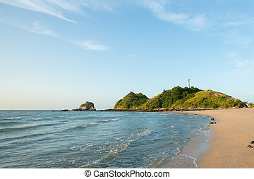 view of andaman sea in Thailand (koh lanta island)
