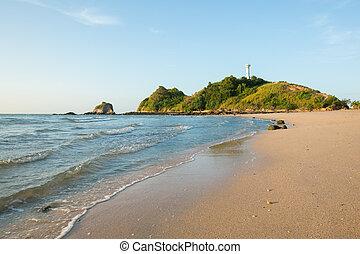 view of andaman sea in Thailand (koh lanta island)
