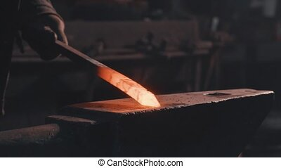 Forging of melted metal detail