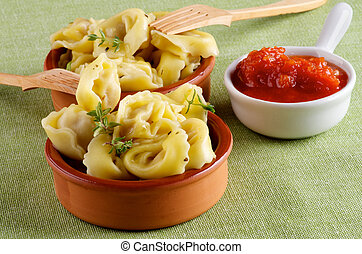 Delicious Meat Cappelletti - Arrangement of Delicious Meat...