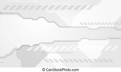 Abstract grey technology video animation - Abstract grey...