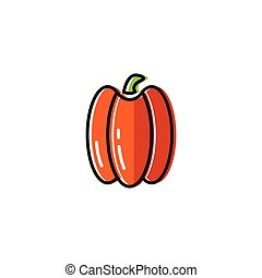 Healty food background representing. pepper icon