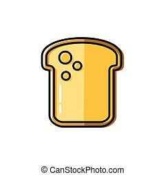 Healty food background representing. bread icon