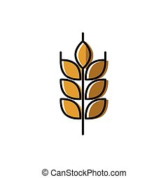 Healty food background representing. wheat icon