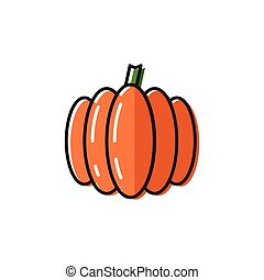 Healty food background representing. pumpkin icon