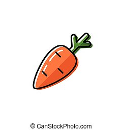 Healty food background representing. carrot icon