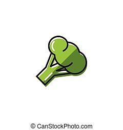 Healty food background representing. broccoli icon
