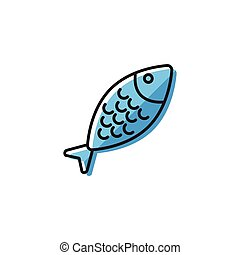 Healty food background representing. fish icon