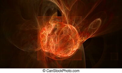 Hot fire pattern abstract motion background - Hot fire...