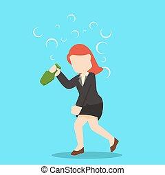 drunk businesswoman