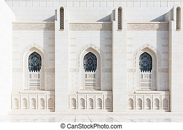 Sultan Qaboos Grand Mosque - Exterior detail of the Sultan...