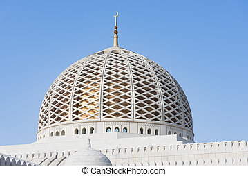 Sultan Qaboos Grand Mosque - The dome of the Sultan Qaboos...