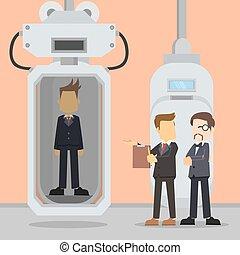 businessman reviewing male entrepreneur production