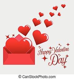 Send Love Heart in Valentine Day
