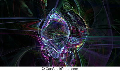 Colorful threads pattern abstract motion background -...