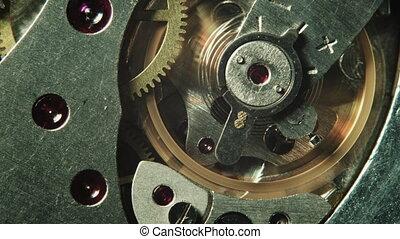 Mechanical watch movement - Macro shot of mechanical watch...