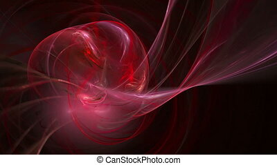 Red twirl pattern abstract motion background