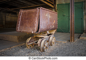 Old Rusty Mining Ore Cart