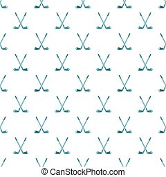 Golf clubs pattern, cartoon style - Golf clubs pattern....