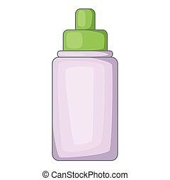 Nasal drops icon, cartoon style - Nasal drops icon. Cartoon...