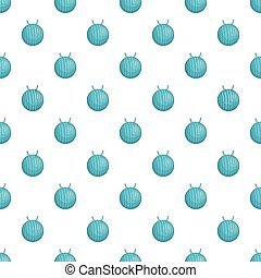 Fitball pattern, cartoon style - Fitball pattern. Cartoon...