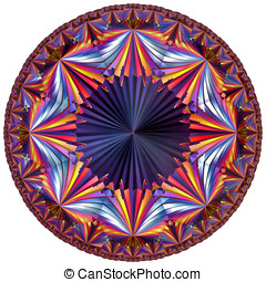 colored hyperbolic tesselation - fractal colored hyperbolic...