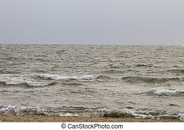stormy sea - beach and stormy sea close up