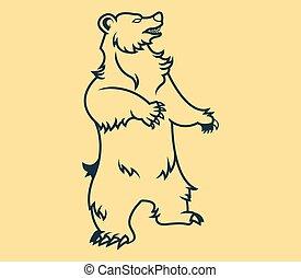 Standing Bear Line Art