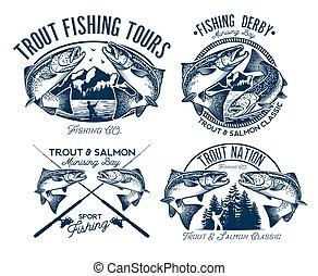 Fishing Logo Set